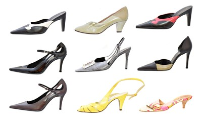 Lot 59 - Ten pairs of designer heels