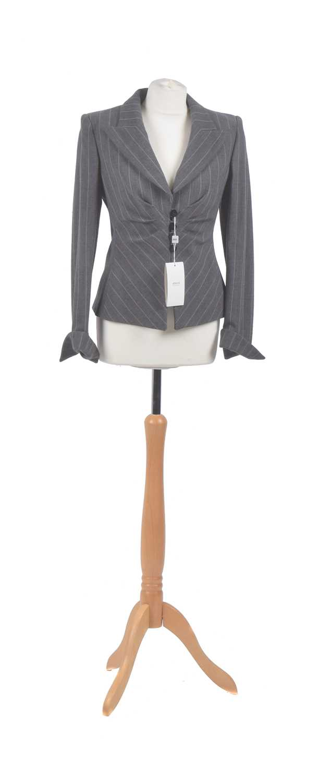 Lot 73 - An Armani Collezioni fitted pinstripe jacket