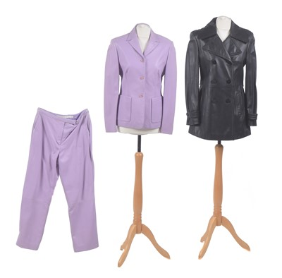Lot 97 - Three items of Escada sport leather clothing