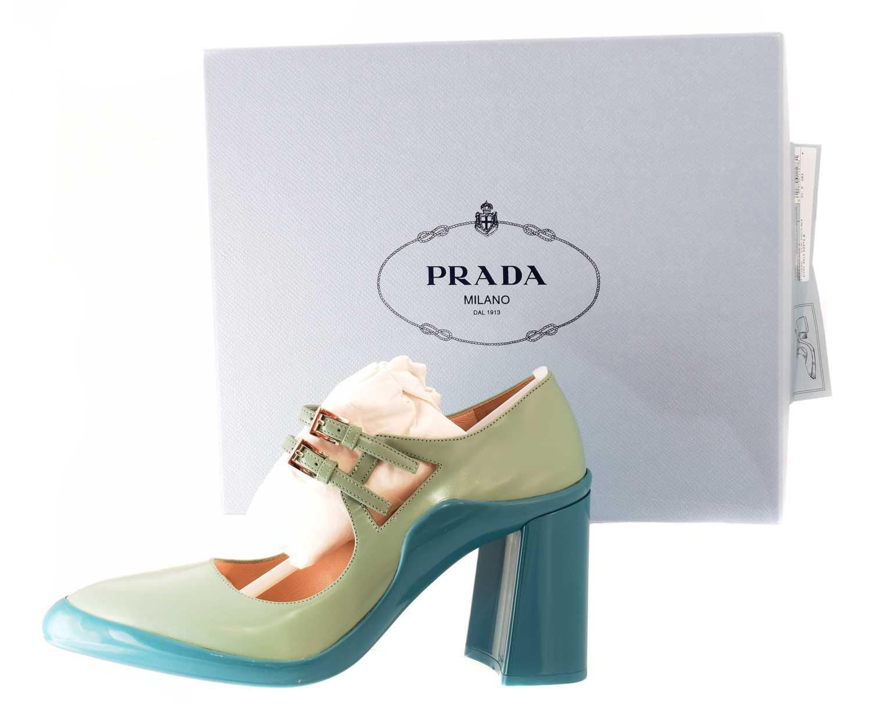 Lot 74 - A pair of Prada 'Calzature Donna' heels