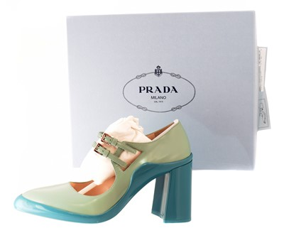 Lot 74 - A pair of Prada 'Calzature Donna' heels