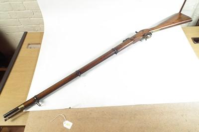 Lot 38-Enfield three band percussion rifle
