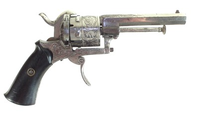 Lot 1-7mm pinfire double action revolver