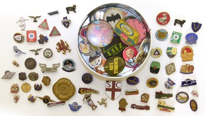 Lot 3-A collection of badges and enamel lapel badges