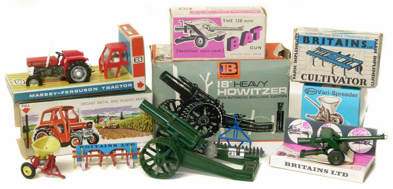 Lot 12-Britains Massey-Ferguson tractor in original box etc.
