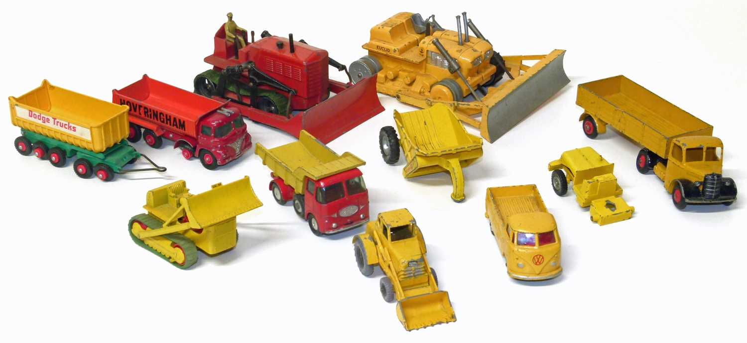 Lot 19-Corgi Major bulldozer, Dinky articulated truck etc.