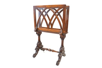 Lot -A Victorian Wanlut Folio Stand