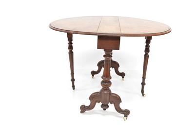 Lot 405 - Victorian walnut Pembroke table