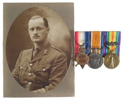 Lot 271 - WWI Trio, for Captain D. E. Estill The Royal Fusiliers
