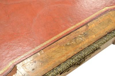 Lot 401 - Mid 19th Century French walnut veneered bureau plat