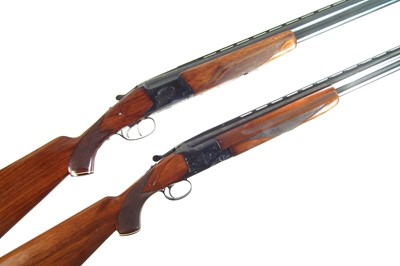 Lot -Winchester 12 bore over and under and a Baikal 12 bore