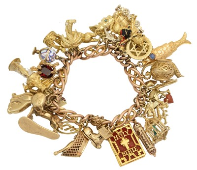 Lot 8 - A charm bracelet
