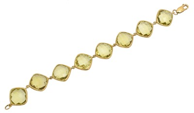 Lot 5 - A prasiolite bracelet