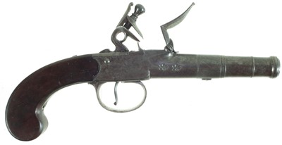 Lot 20-Flintlock Queen Anne pistol by Barbar