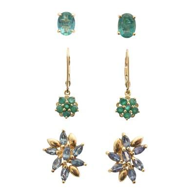 Lot 22 - Three pairs of earrings