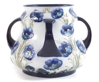 Lot 132 - Macintyre Moorcroft four handled vase