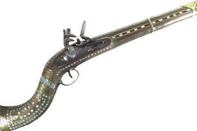 Lot 75 - Afghan flintlock Jezail rifle