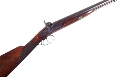Lot 86 - T. & W. Harrison 12 bore percussion double barrel shotgun
