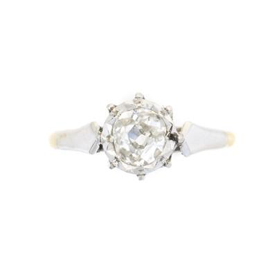 Lot 183 - A diamond single stone ring