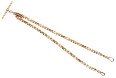Lot 130 - A 9ct gold Albert chain