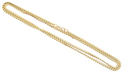 Lot 132 - A 9ct gold chain necklace