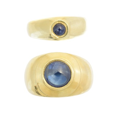 Lot 216 - Two sapphire dress rings