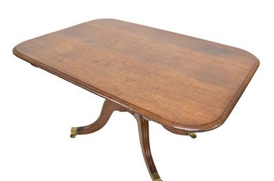 Lot 406 - Regency mahogany breakfast table