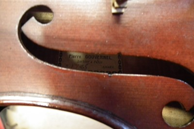 Lot 8 - Pierre Gouvernel viola in case with bow.