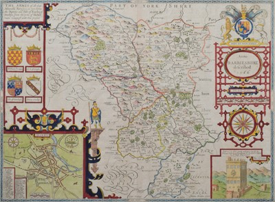 Lot 85 - John Speed, Map of Derbyshire.