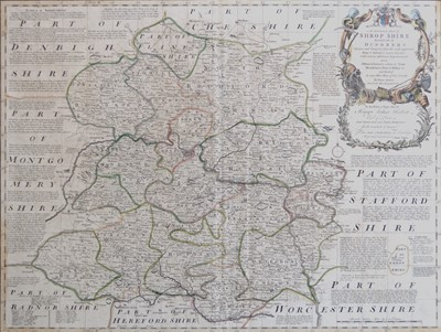 Lot 87 - An assortment of various maps to include Shropshire, Derbyshire and Staffordshire (6).