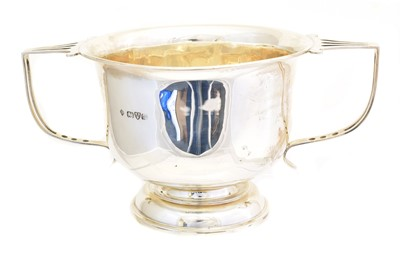 Lot 206 - An Edward VII silver twin handled cup
