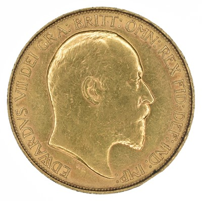 Lot 76 - King Edward VII, Five Pounds, 1902.