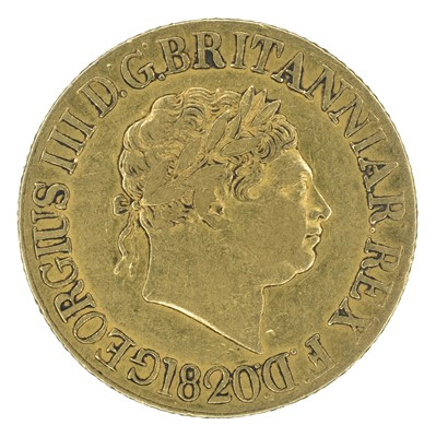 Lot 54 - King George III, Sovereign, 1820.