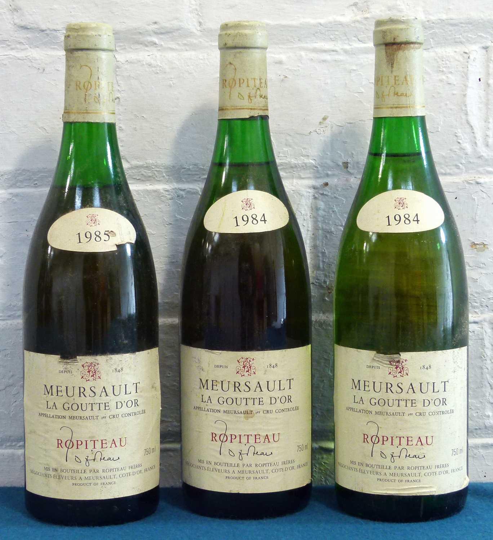 Lot 10 - 3 Bottles Mixed Lot Meursault Premier Cru 'La Goutte d'Or' Ropiteau