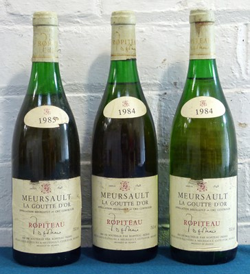 Lot 10 - 3 Bottles Mixed Lot Meursault Premier Cru 'La Goutte d'Or' Ropiteau