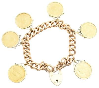 Lot 1 - A sovereign bracelet