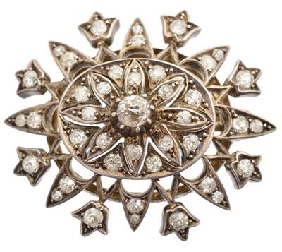 Lot 35-A 19th century diamond brooch