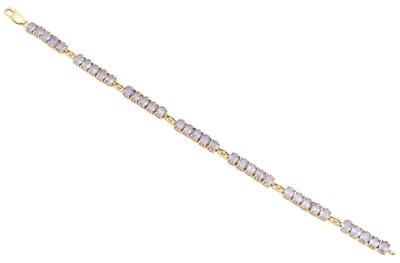 Lot 20-A 9ct gold tanzanite bracelet