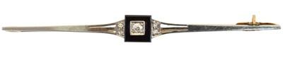 Lot 24-A 1920s onyx and diamond bar brooch
