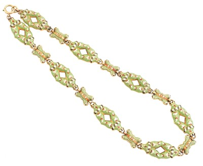 Lot 125 - An enamel necklace