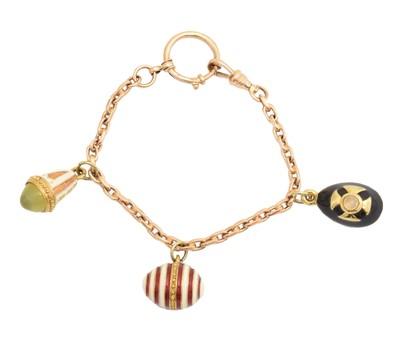 Lot 11 - A charm bracelet