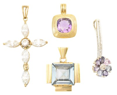 Lot 69 - Four gem set pendants