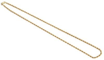 Lot 67 - A 9ct gold chain necklace