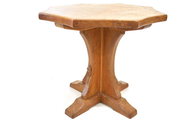 "Lot 260 - A Robert Thompson of Kilburn ""Mouseman"" oak occasional table"