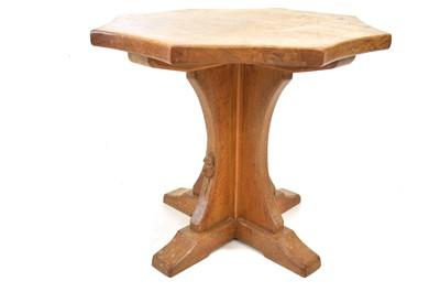 "Lot A Robert Thompson of Kilburn ""Mouseman"" oak occasional table"