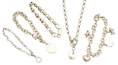 Lot 62 - A selection of silver designer jewellery