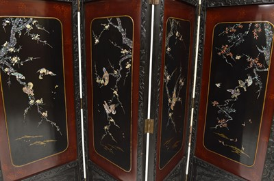 Lot 371 - Late 19th-century Japanese four-leaf room divider