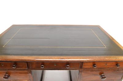 Lot 400 - Victorian mahogany twin pedestal writing desk