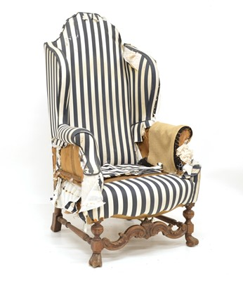 Lot 381 - Victorian Wingback Chair