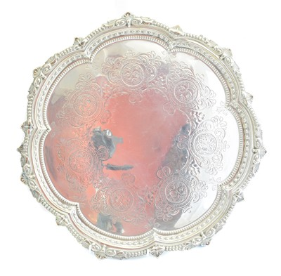 Lot 158 - An Edward VII silver salver